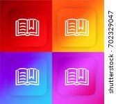 open book four color gradient...