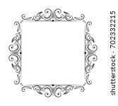 square vintage classic elegant... | Shutterstock .eps vector #702332215