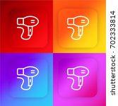 hair dryer four color gradient...