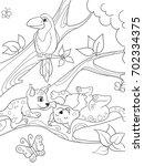 childrens coloring book cartoon ...   Shutterstock .eps vector #702334375