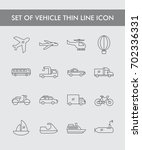 set of vehicle thin line icon | Shutterstock .eps vector #702336331