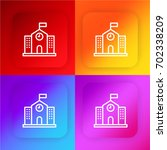school four color gradient app...