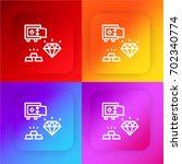 diamond four color gradient app ...