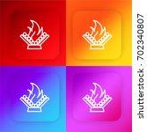 campfire four color gradient...