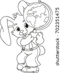 coloring page outline of... | Shutterstock .eps vector #702351475