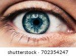 human blue eye closeup macro   Shutterstock . vector #702354247