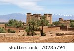 Moroccan kasbah - stock photo