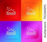 sunset four color gradient app...