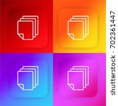 papers four color gradient app...