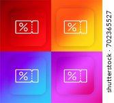 coupon four color gradient app...