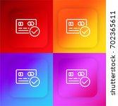payment four color gradient app ...