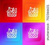 basket four color gradient app...