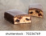 chocolate bar with caramel and...   Shutterstock . vector #70236769
