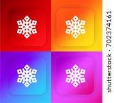 snowflake four color gradient...