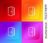 door four color gradient app...