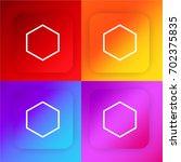 hexagon four color gradient app ...