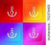 pixel four color gradient app...