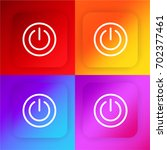 power button four color... | Shutterstock .eps vector #702377461