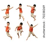 Cheerful Boy In An Orange Shirt ...