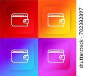 wallet four color gradient app...