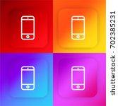 smartphone four color gradient...