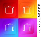 suitcase four color gradient...