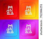 siberian husky four color... | Shutterstock .eps vector #702386251