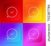 speech bubble four color...