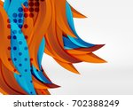 colorful wave lines in white... | Shutterstock . vector #702388249