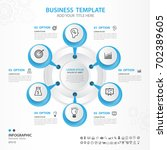 infographics elements diagram... | Shutterstock .eps vector #702389605