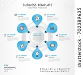 infographics elements diagram... | Shutterstock .eps vector #702389635