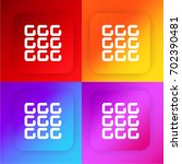 dial four color gradient app...