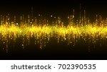 golden high tech waveform... | Shutterstock . vector #702390535