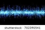 blue high tech waveform... | Shutterstock . vector #702390541