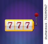 lucky seven 777 slot machine | Shutterstock .eps vector #702390967
