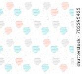 handmade line seamless pattern... | Shutterstock . vector #702395425