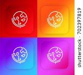 earth globe four color gradient ...