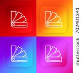 four color gradient app icon set
