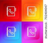 phone book four color gradient...