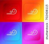 wind swirls four color gradient ...