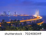 the bandra worli sea link ... | Shutterstock . vector #702408349