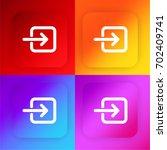 login button four color...