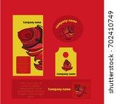 branding identity template... | Shutterstock .eps vector #702410749
