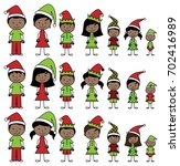 vector collection of african... | Shutterstock .eps vector #702416989