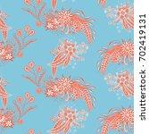 modern zendoodle rapport.... | Shutterstock .eps vector #702419131