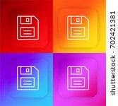floppy disk four color gradient ...