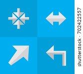 vector illustration set of... | Shutterstock .eps vector #702422557
