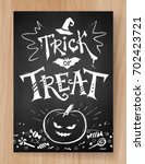 trick or treat halloween... | Shutterstock .eps vector #702423721