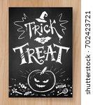 trick or treat halloween... | Shutterstock .eps vector #702423721