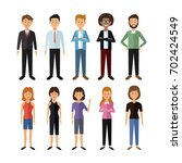 white background with full body ... | Shutterstock .eps vector #702424549
